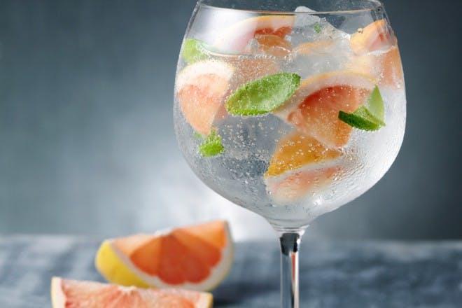 9. Add grapefruit and basil