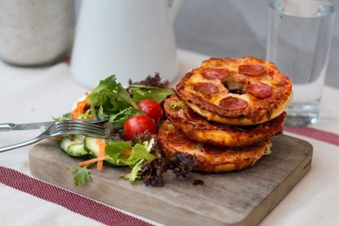 17. Pizza bagels