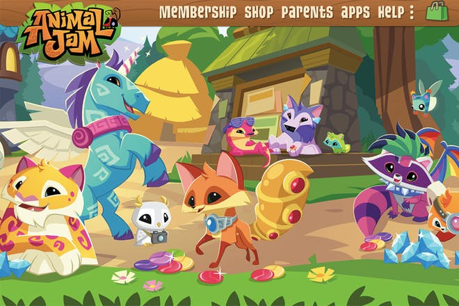 Screenshot of Anima Jam featuring lots of colourful creatures