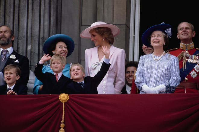 Princess Diana, William and Harry and the Queen and Prince Philip