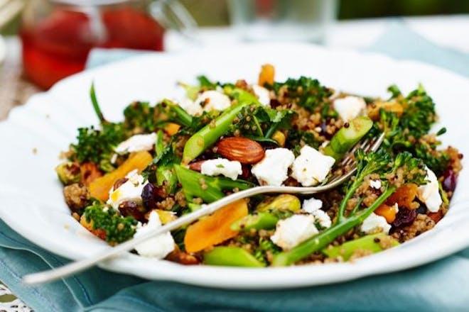 Feta and broccoli quinoa
