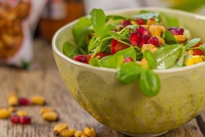 24. Corn and pomegranate salad