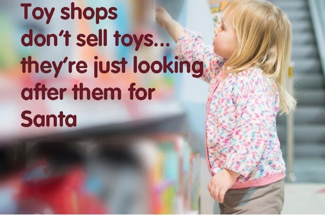 little girl in toy shop