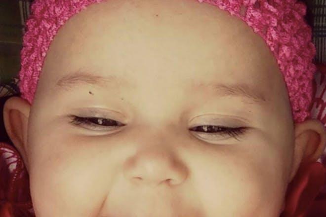Baby dimple piercing