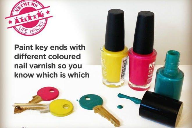 keys and nail polish