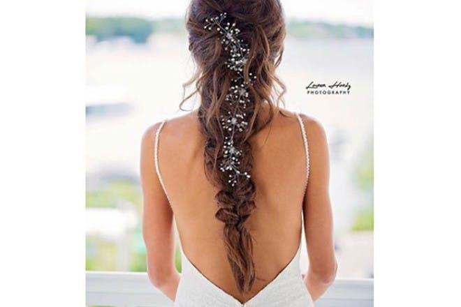 11. Messy floral braid