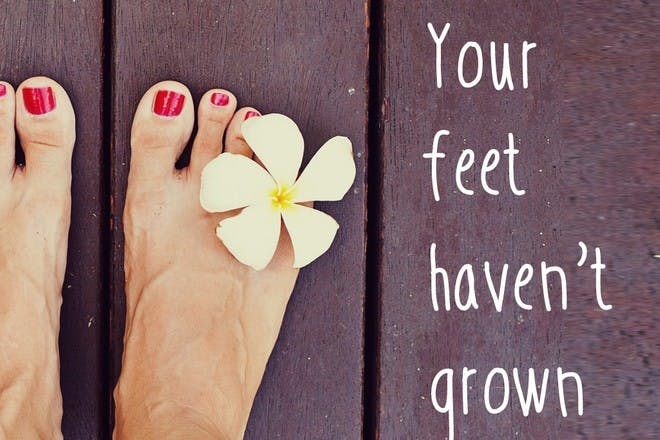 feet with flower