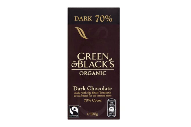 91. Green And Black's Organic 70% Dark Chocolate Bar