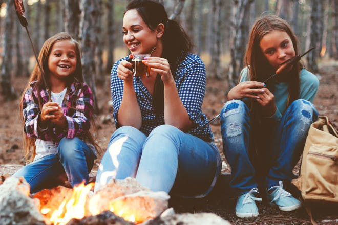 Wild camping with kids