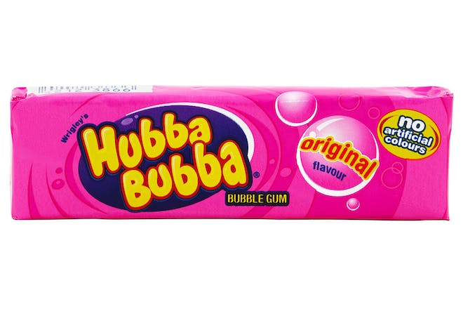 Packet of pink Hubba Bubba