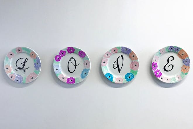25. Baked Sharpie plates