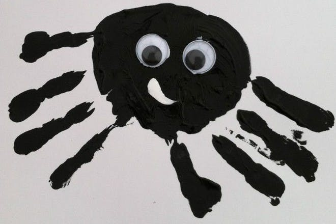 spider made from hand prints