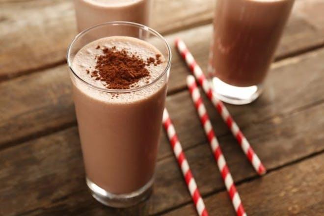 three chocolate milkshakes