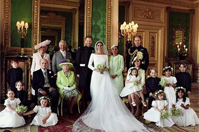 Meghan and Harry's wedding day photo with family