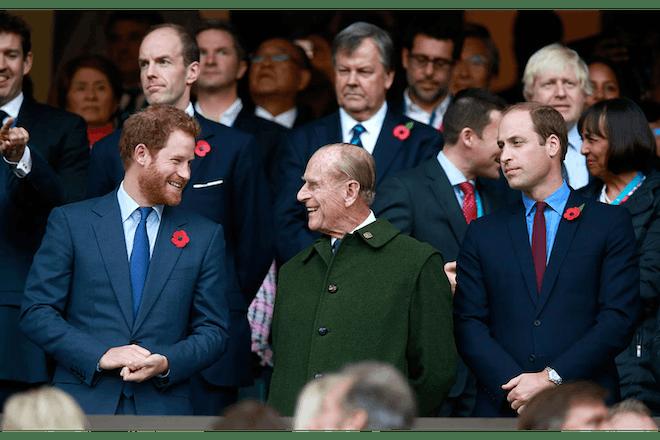 Prince Philip, William and Harry