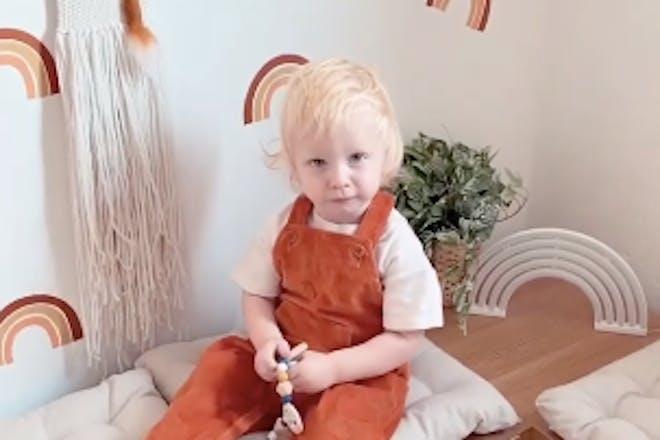 Stacey Solomon son Rex in his nursery