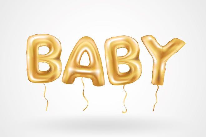Balloon pregnancy announcement