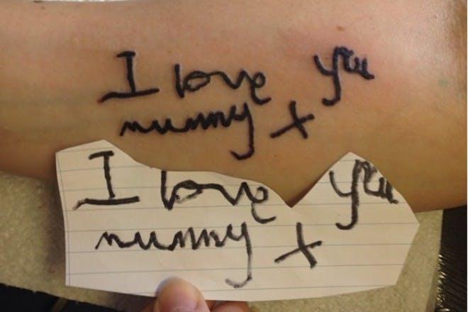 I love you mummy tattoo