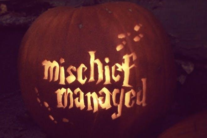 'Mischief managed' pumpkin