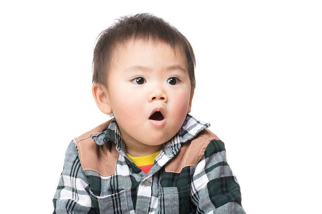 Shocked baby