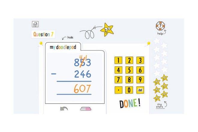doodle maths app