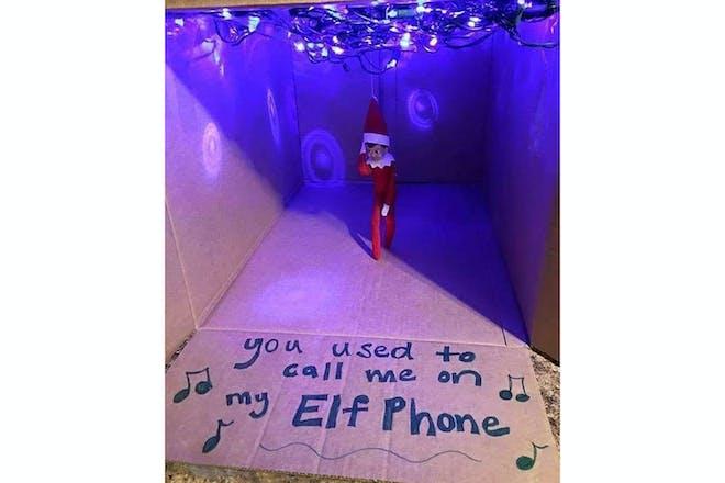 Elf on the shelf pop star