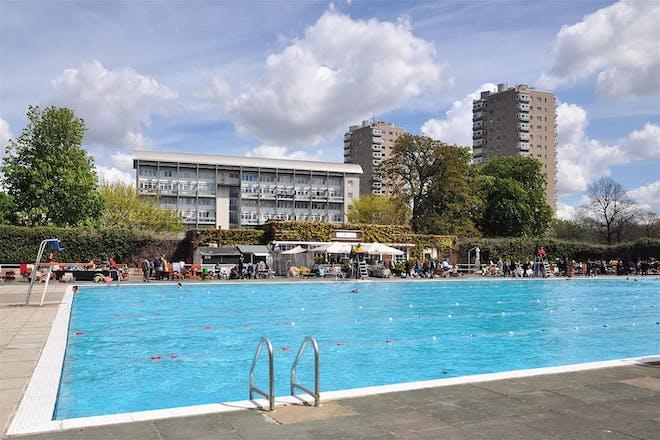 Brockwell lido open-air pool in London