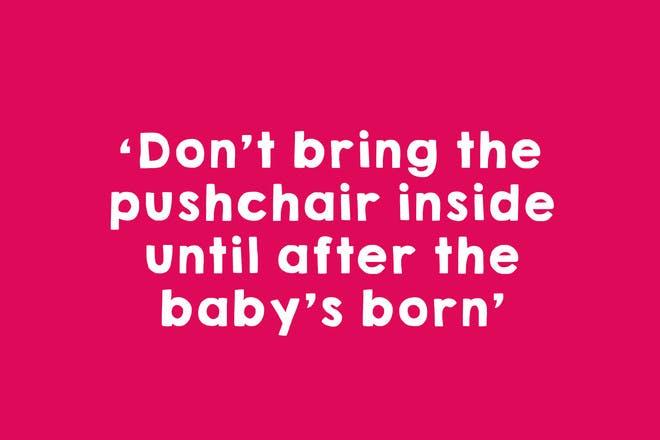 Pushchair bad luck