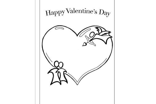 Big heart Valentine's card