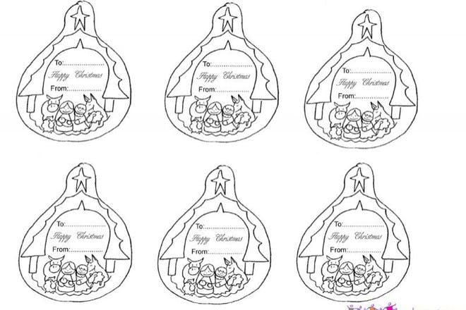 nativity gift tags