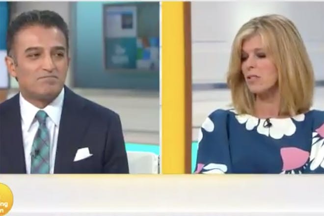 Kate and Adil Ray on Good Morning Britain
