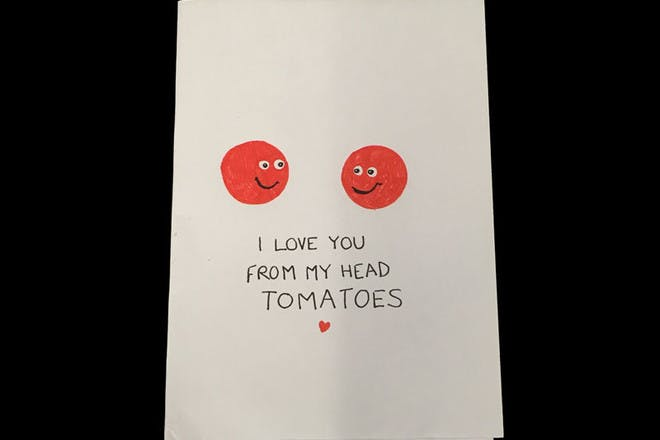 Mother's Day card with tomatoes