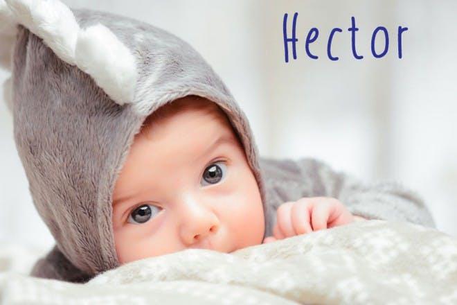 baby boy in grey hoodie