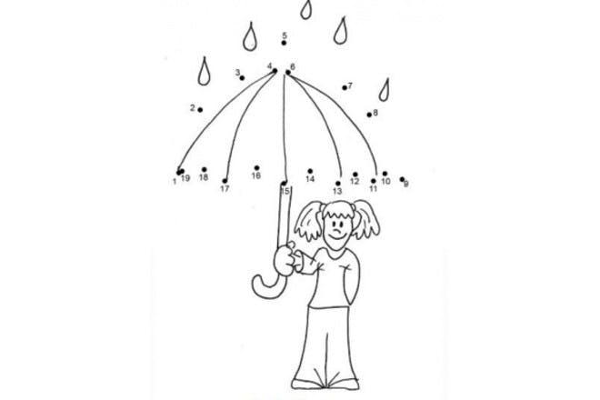 19. Umbrella dot-to-dot