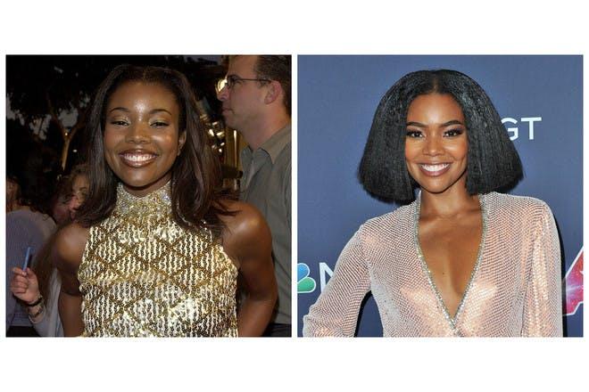 Gabrielle Union then vs now