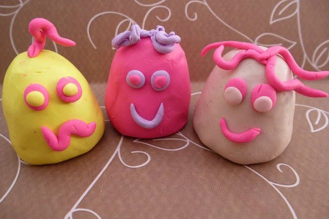colourful fimo puppets