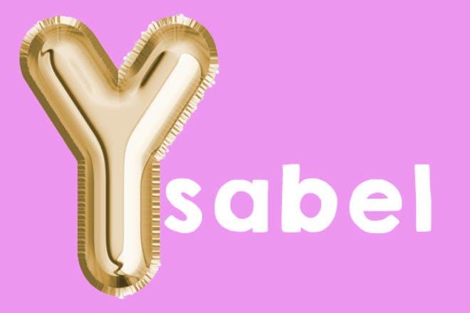 Ysabel 'y' name
