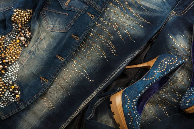 28. Or wearing embellished denim