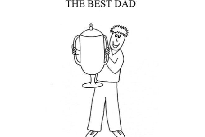 Father's Day card - trophy