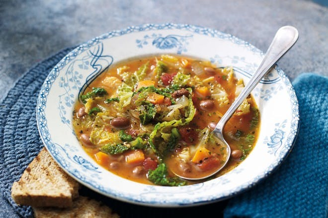 Tuscan winter vegetable and bean soup