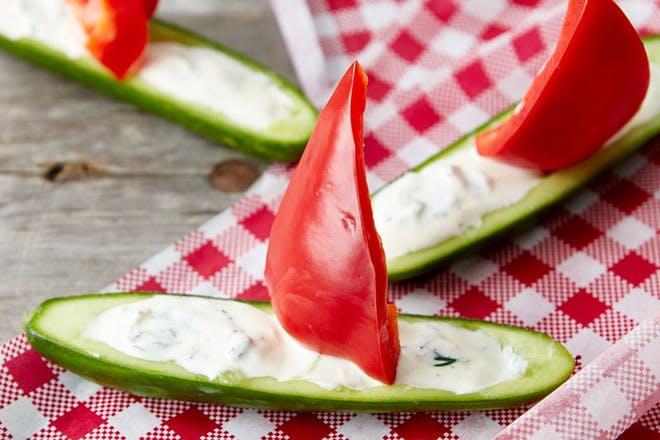 Cucumber sailing boats