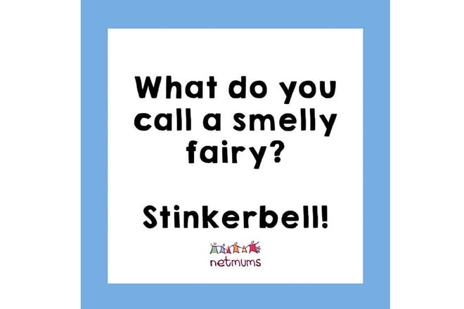 Joke: What do you call a smelly fairy? Stinkerbell