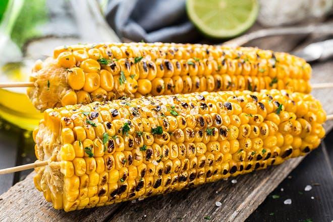7. Smokey BBQ corn