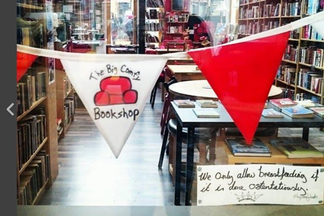 breastfeeding sign in bookshop