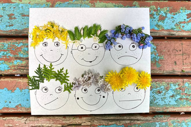 Pictures of faces with flowers for hair