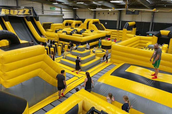 Huge area of inflatables