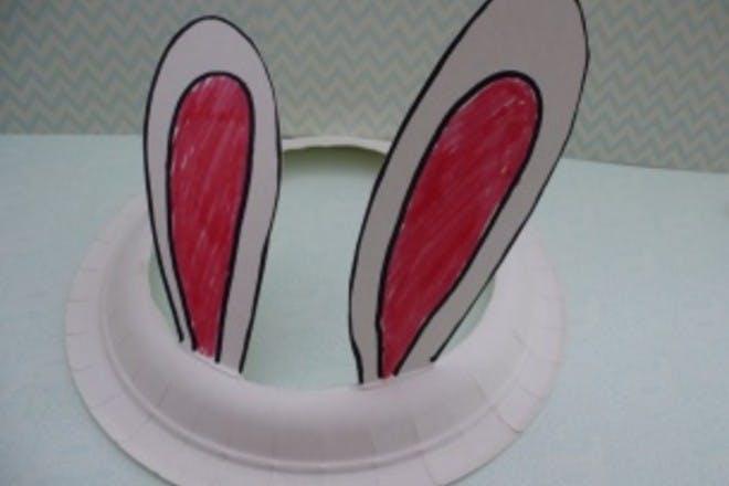 Bunny ears cut into plate