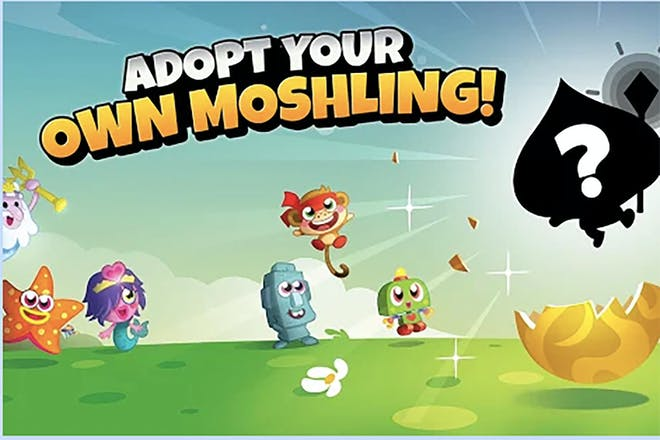 Moshi Monsters egg hunt screen grab showing hatching monsters