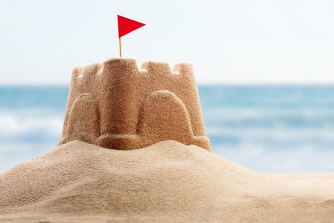 Nostalgic holidays sandcastles