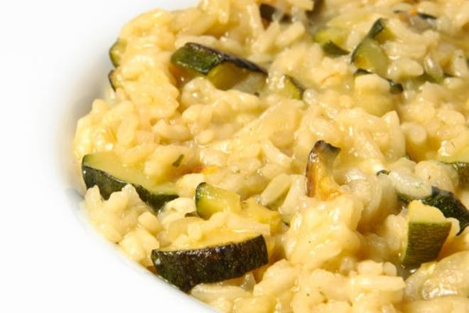 Courgette risotto